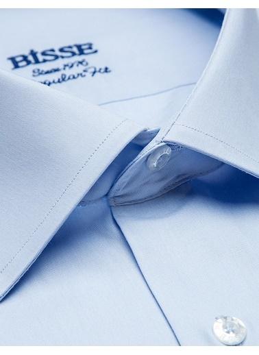 Bisse GM19Y91032 Regular Fit Düz Klasik Gömlek Mavi